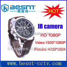 2015 new BESNT IR HD 1080P portable watch police body camera with 4 GB memory for sell BS-S05