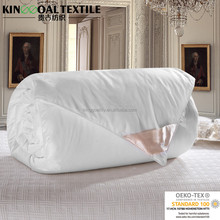 Summer Cool Natural Mulberry Silk Filled Quilt Covered With Jacquard Cotton Fabric King/Queen Size