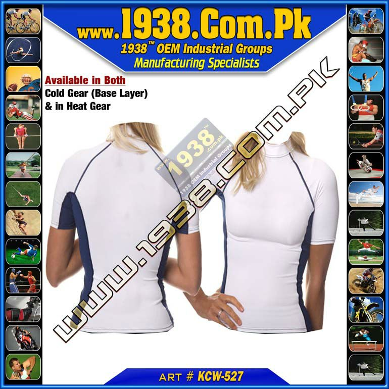 White and Blue Ladies Shortsleeve wear clothes , KCW-527