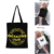 Simple Black Custom Logo Durable High Sale Student Cotton Tote Bag