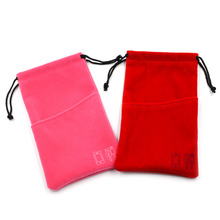 Beautifully Microfiber ladies cell mobile phone pouch bag