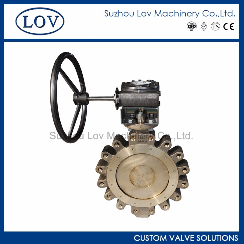 Online Shopping Double Eccentric Gear Operated Lug Type Butterfly Valve