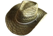 China cheap bulk hollow straw cowboy hat for man