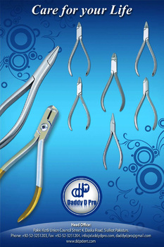 Set Of 8 Pieces Orthodontic Pliers Dental Instruments Banner