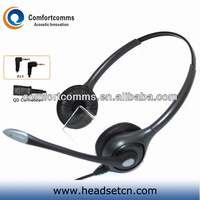 Binaural call center noise cancelling telephone headset with 2.5mm earphone jack HSM-602RPQDJ2.5