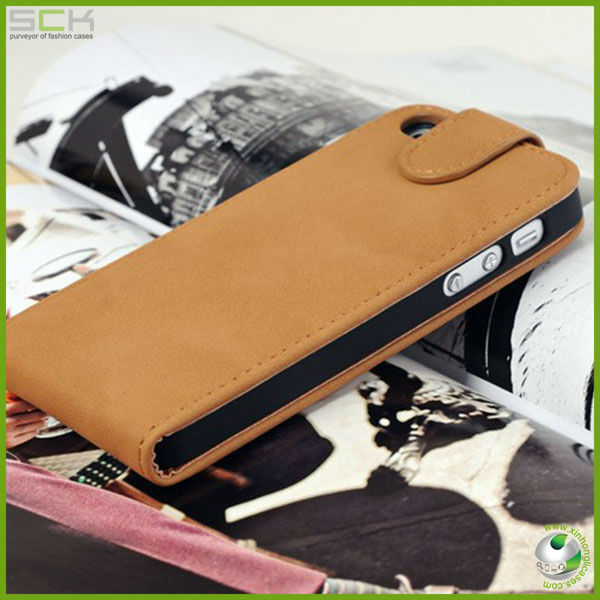 Flip leather case cover for iphone 5c for iphone mini cover housing for Germany