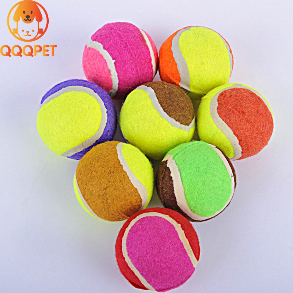 Manufacture high quality new listing colorful tennis ball pet toys