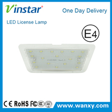 Factory sale high brightness auto parts Opel Astra G LED license plate lights with e4 certification