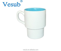 Factory Sublimation Custom 350ml Stackable Orca Coatings Blank Ceramic Coffee Mugs For Wholesale
