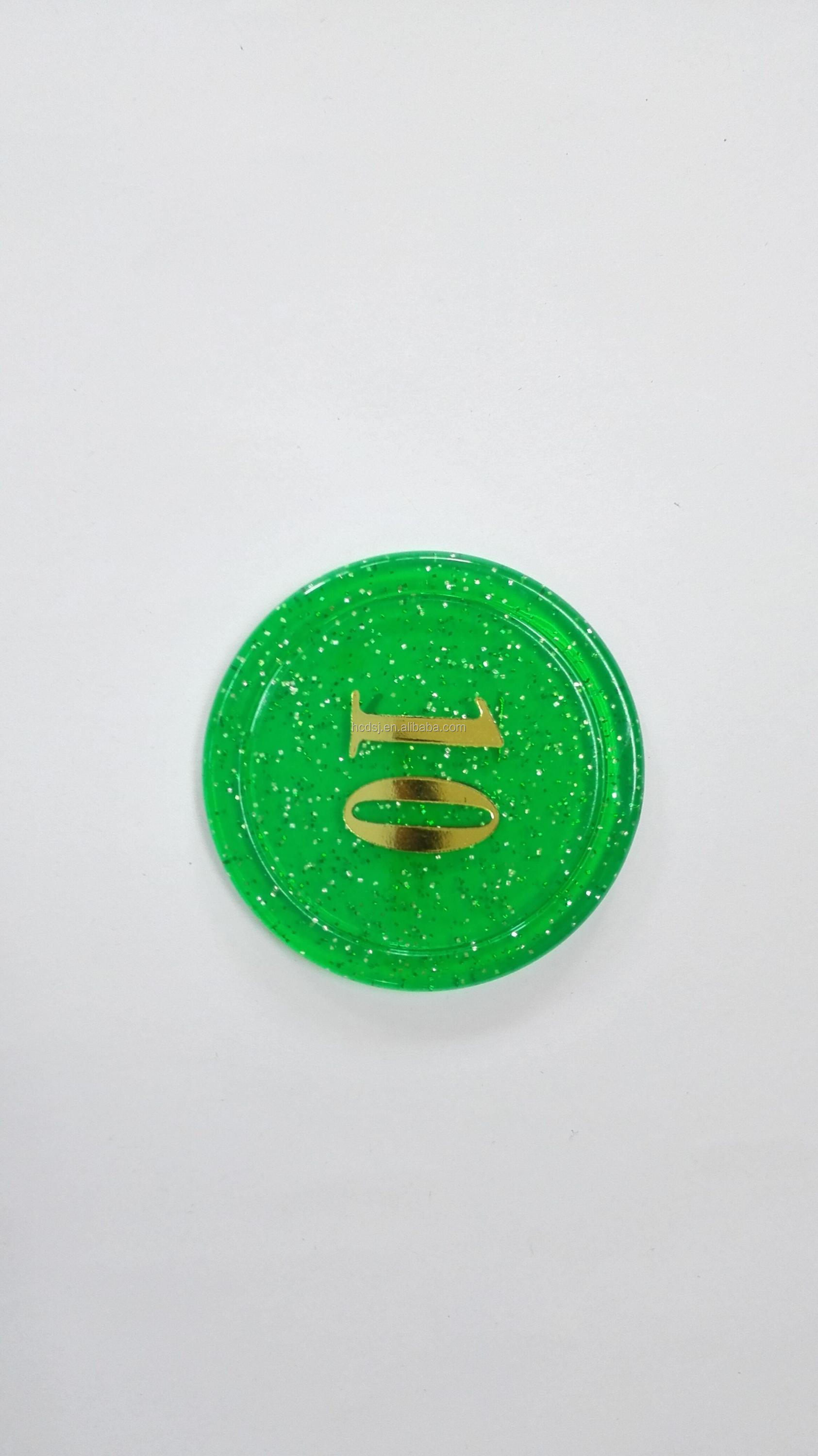 2017 new mold large size transparent plastic game tokens