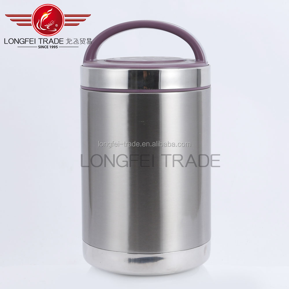 3 Layers Stainless Steel insulated tiffin lunch box with handle
