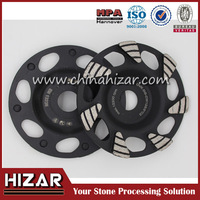 China Hizar 125mm Metal Bond Diamond grinding discs for concrete