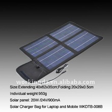 PVC Laminated Portable&Foldable 20W Solar Emergency Charger for Laptop and Mobile Phones