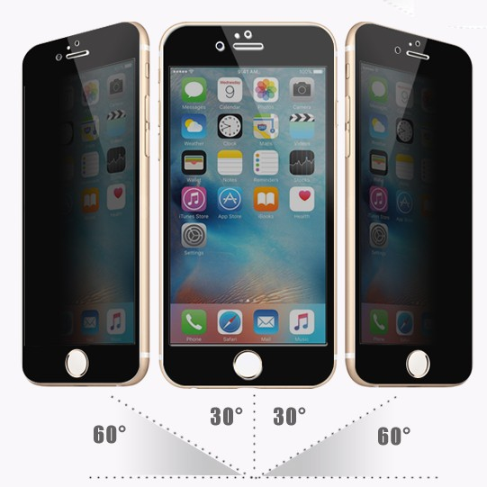 OEM / ODM 2016 newest ! 9H full cover privacy tempered glass screen protector for iphone 6 / 6s 7 tempered glass film