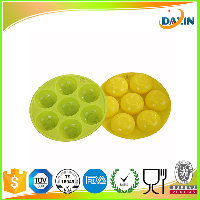 Funny Family Use Creative 3D Smile Face Silicone Ice Cube tray Ice Cream Maker