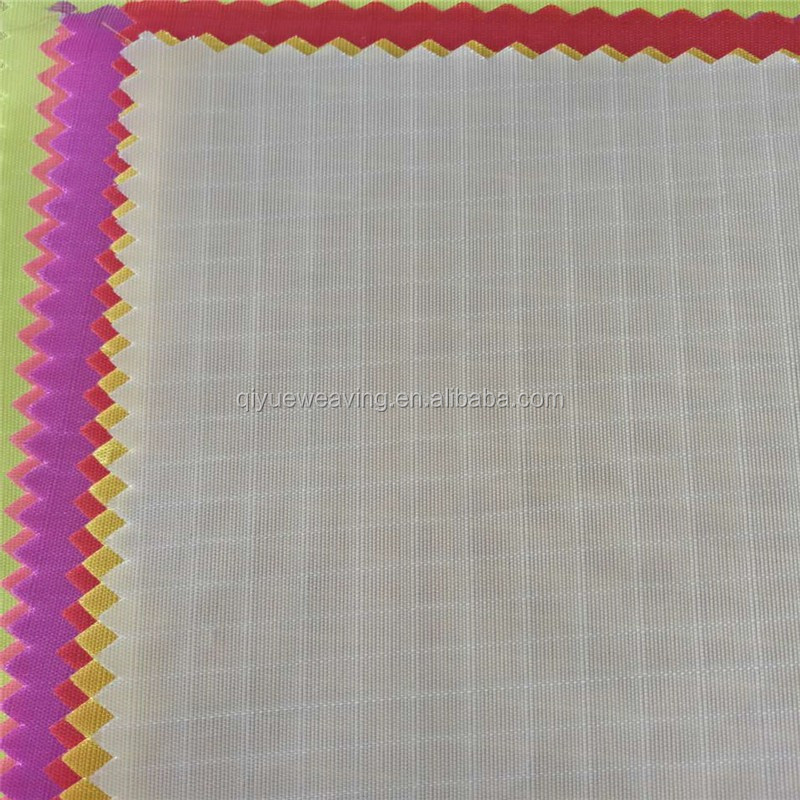 100% polyester 0.5cm ripstop 210t taffeta pa coating fabric china textile factory