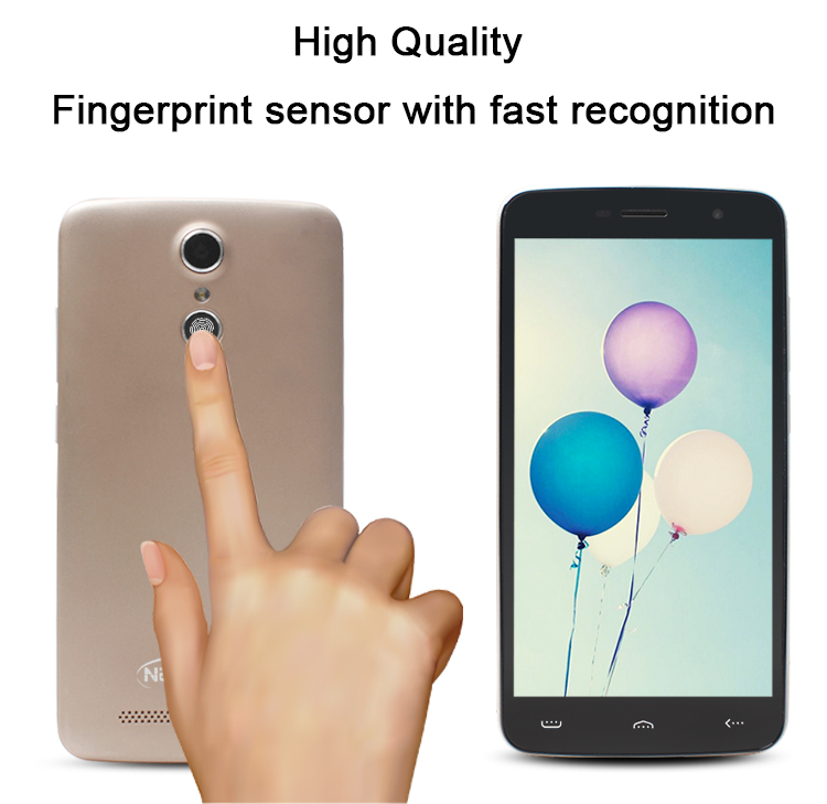 Unlocked Fingerprint Smartphone 5.5 inch MTK6737 13MP Android Free Sample OEM 4G Mobile