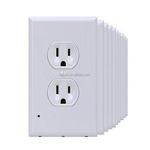 3 Leds No Batteries No Wires Duplex Outlet Wall Plate Cover with Led Night Lights