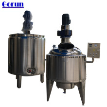 GORUN Electric/steam Heating Stainless Steel Liquid Mixing Tank With Agitator