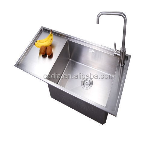 Top grade new style 1000X470X220mm Top mounted Single bowl newest stainless steel wash basin stand
