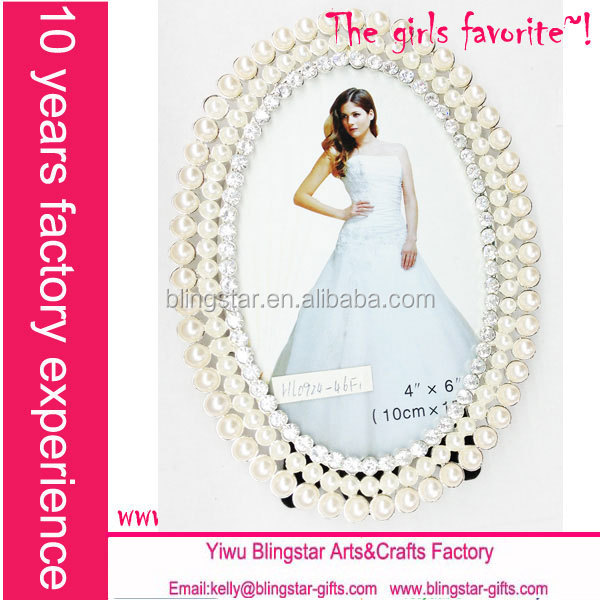 hot selling fashion rhinestone pearl picture frames