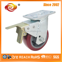6 Inch Zinc Plated Total Brake Swivel Cater Wheels