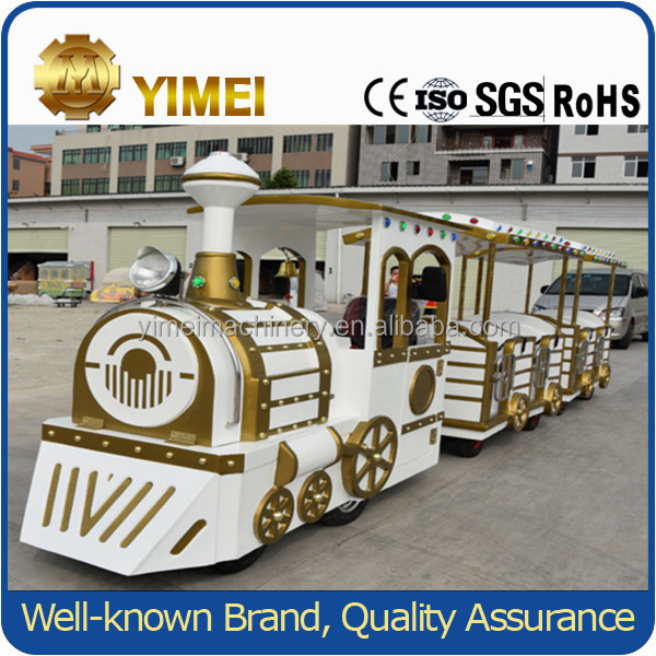Outdoor playground amusement equipment electric train mini train for kids