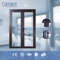 Tansive construction double glazed heat resisting Aluminum framed french doors for hotels
