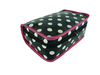 dot shiny pvc bag / large makeup bag for girl / travel toiletry bag for traveler