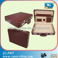 Good quality brown leather briefcase bag