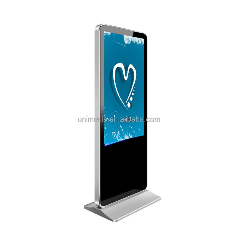 Indoor free standing HD 43 inch 55 inch TFT advertising screen equipment,advertising display screen