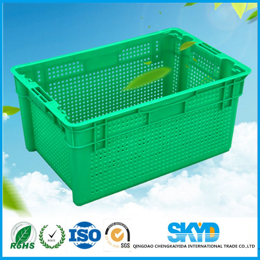 stack and nest plastic crate for vegetable and fruit packaging box