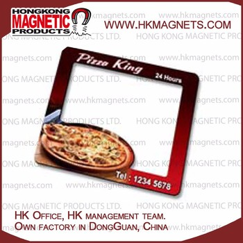 Clear Epoxy Coating Fridge Magnets Engrave Food Business Information