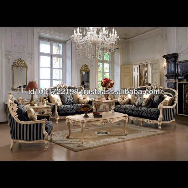 French Style Antique Living Room Sofa Set Nfls28 Provincial