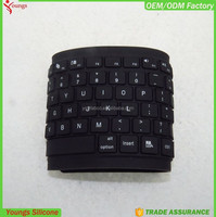 2016 Flexible Folding Silicone Rubber Wireless bluetooth Keyboard for PC Laptop iPad