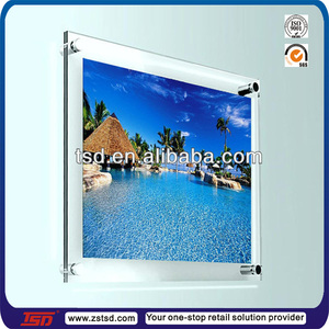 "TSD-A1173 clear perspex 10"" X 8"" wall art picture display/acrylic display frame/Wall mounted acrylic photo frame"