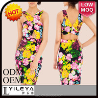 sexy floral bandage dress for ladies korea summer fashion dress 2015