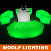 led light cube and plastic led light chair/couch cube