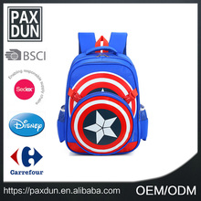 Wholesales school bags kids backpack captain America backapck