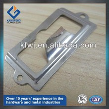 Sheetmetal fabrication file drawer label holder hardware