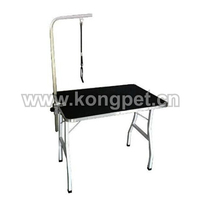 Pet grooming table with square tube legs PG055