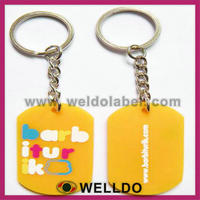 custom make popular rubber keychain wholesale