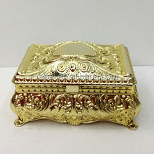 Best selling Party favor gold plated plastic jewelry box party supplies party favor