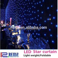 China supplier Soft fabric cloth christams led star curtain light