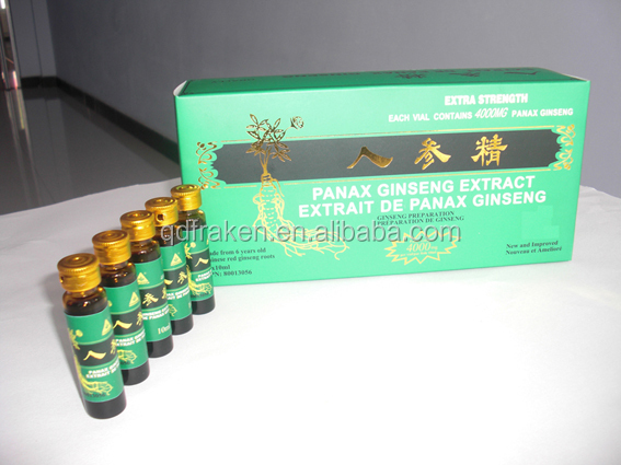 GMP Certified Health Drink Panax Ginseng Oral Liquid