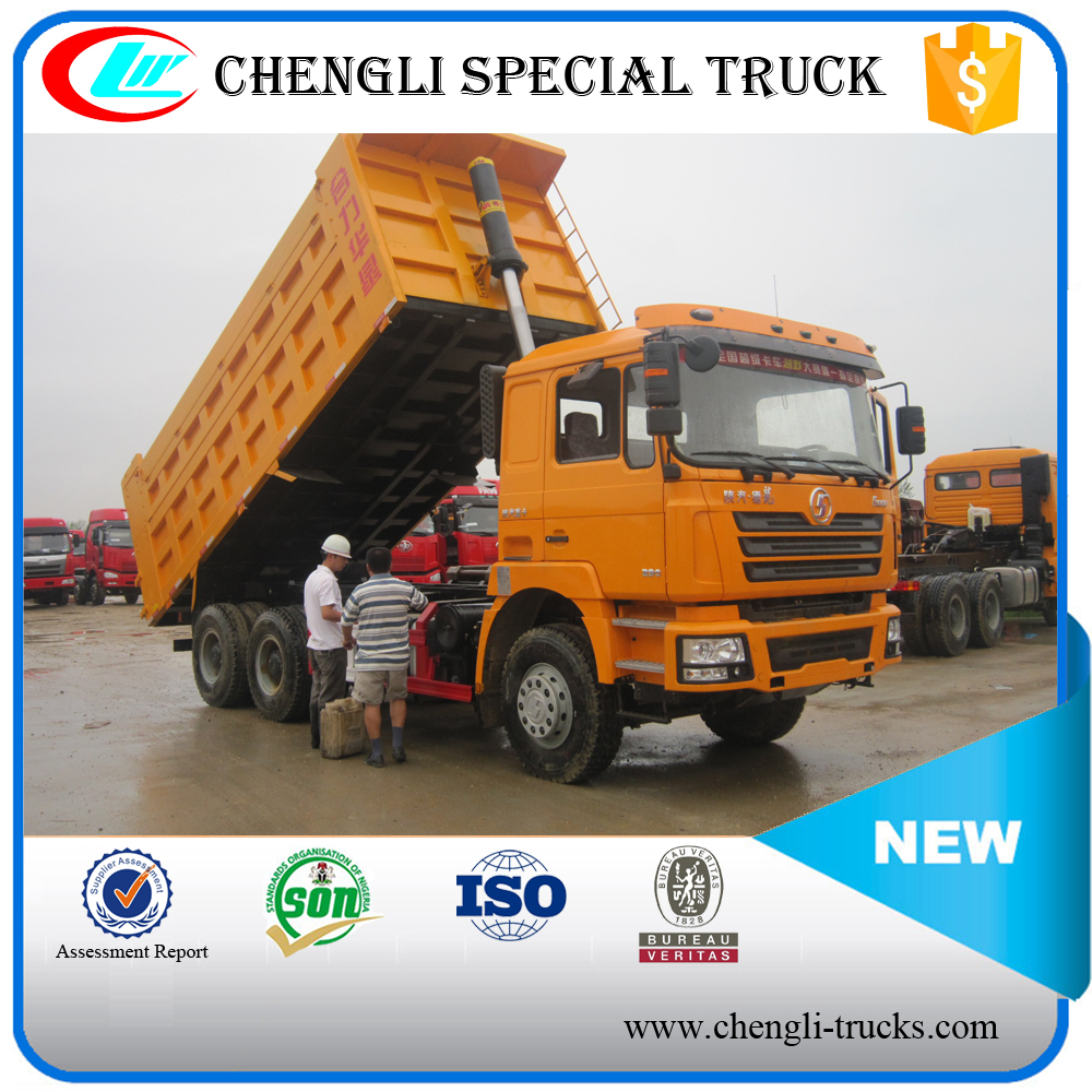 china supplier 45 tons loading 20cbm dump body 10 wheels 6*4 type shacman dumper truck algeria