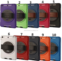 Instock For ipad mini 2 3 Hand Strap Shockproof rotating Stand Back cover case