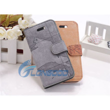 World Map Pattern Horizontal flip down leather case with belt clip for iphone 5 5G