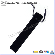 Promotional Black Single Draw String Velvet Pen Pouch