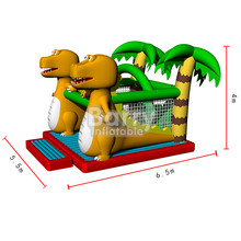 Factory price small inflatable dinosaur bounce house, inflatable jumpers for kids